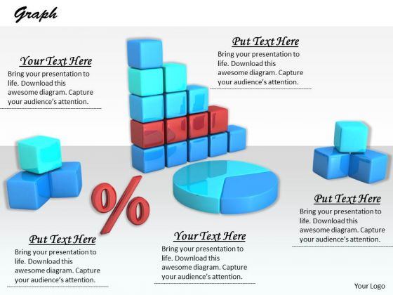 Stock Photo Graphics Of Business Reports And Charts PowerPoint Slide