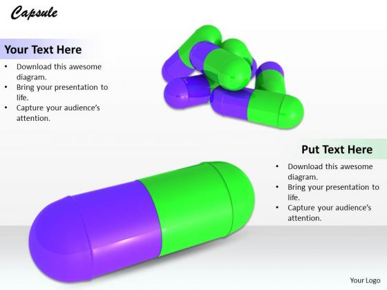 Stock Photo Graphics Of Medicine Capsules PowerPoint Slide