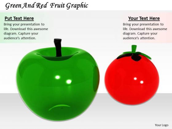 Stock Photo Green And Red Fruit Graphic PowerPoint Template