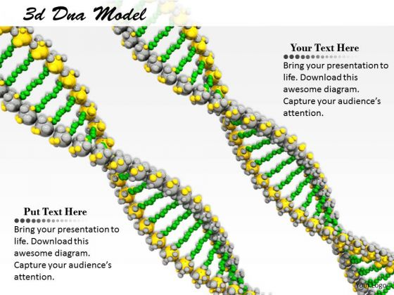 Stock Photo Green And Yellow Dna Design PowerPoint Slide