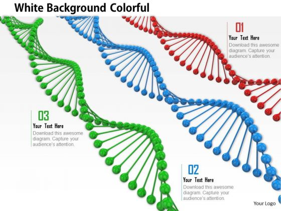 Stock Photo Green Blue Red Dna Strands PowerPoint Slide