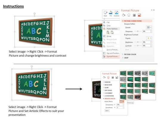 stock_photo_green_board_with_alphabets_powerpoint_slide_3