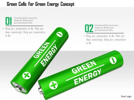 Stock Photo Green Cells For Green Energy Conceptc PowerPoint Slide