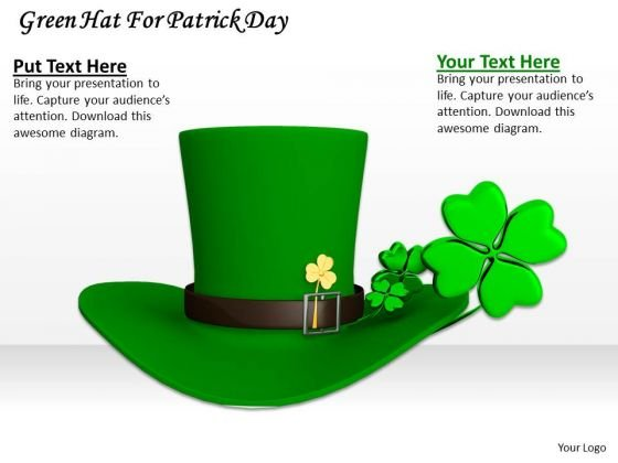 Stock Photo Green Hat For Patrick Day PowerPoint Template