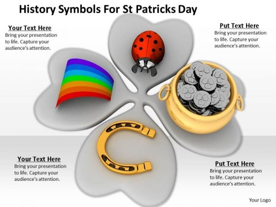 Stock Photo History Symbols For St Patricks Day PowerPoint Template