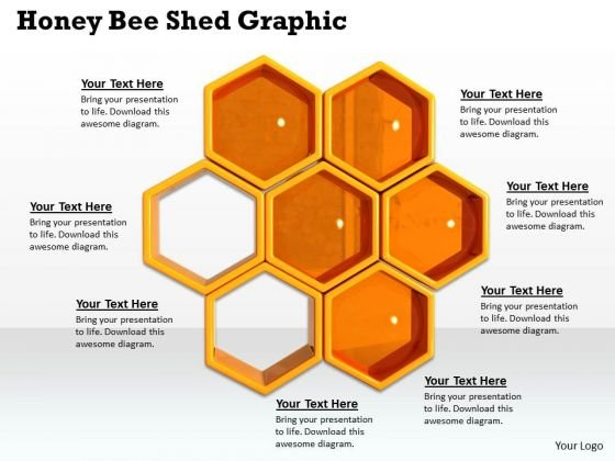 Stock Photo Honey Bee Shed Graphic Powerpoint Template Powerpoint