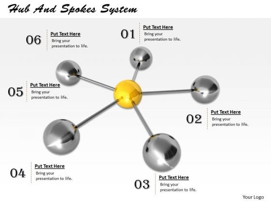 Stock Photo Hub And Spokes System PowerPoint Template