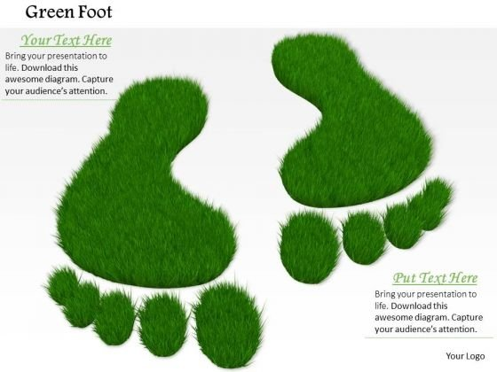 Stock Photo Icons Of Eco Friendly Environment PowerPoint Slide