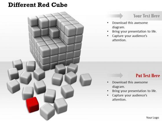Stock Photo Illustration Of Assembling Cubes PowerPoint Slide