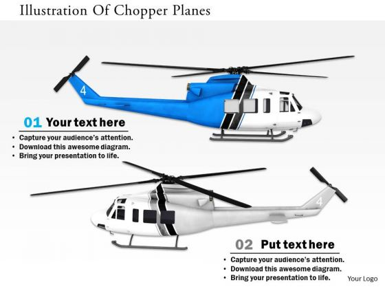 Stock Photo Illustration Of Chopper Planes PowerPoint Slide