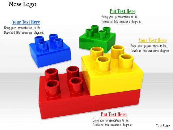 Stock Photo Illustration Of Colorful Lego Blocks PowerPoint Slide