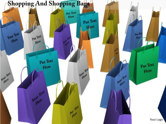 Stock Photo Illustration Of Colorful Shopping Bags PowerPoint Slide