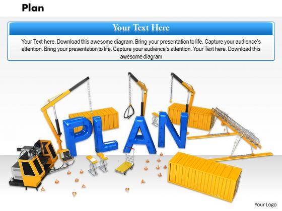 Stock Photo Illustration Of Construction Plan PowerPoint Slide