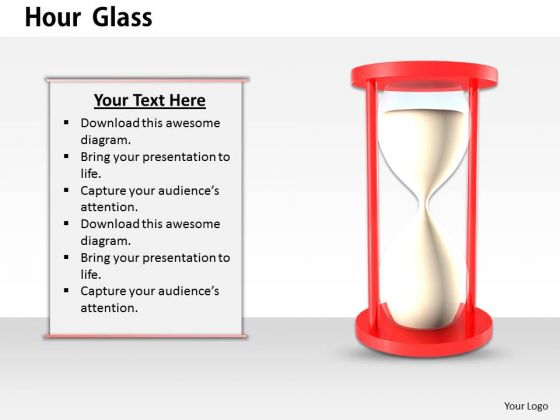 Stock Photo Illustration Of Hour Glass PowerPoint Slide