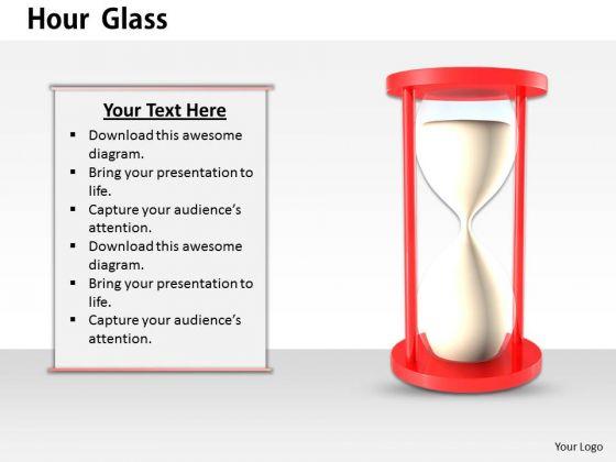 Stock Photo Illustration Of Hour Glass PowerPoint Slide