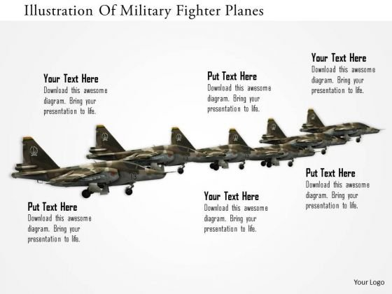 Stock Photo Illustration Of Millitary Fighter Planes PowerPoint Slide