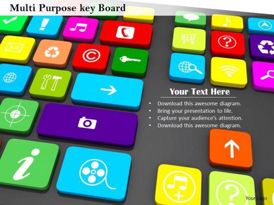 Stock Photo Illustration Of Multimedia Keyboard PowerPoint Slide