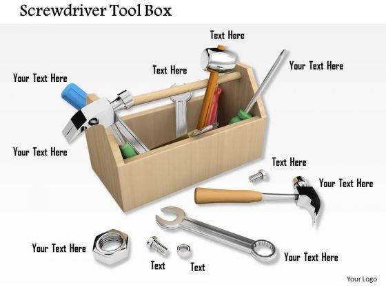 Stock Photo Illustration Of Toolkit With Tools PowerPoint Slide
