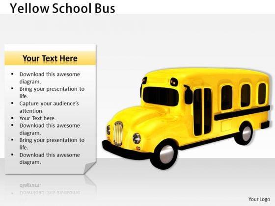 Stock Photo Illustration Yellow School Bus PowerPoint Slide