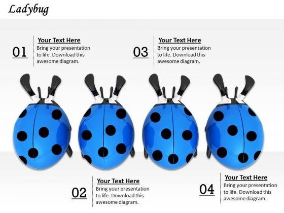 Stock Photo Image Of Blue Ladybug PowerPoint Slide