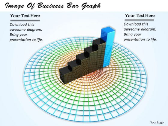 Stock Photo Image Of Business Bar Graph PowerPoint Template