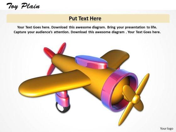 Stock Photo Image Of Toy Plain On White Background Pwerpoint Slide