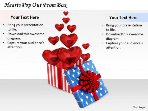 Stock Photo Innovative Marketing Concepts Hearts Pop Out From Box Business Icons Images