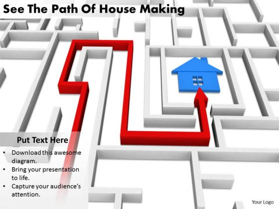Stock Photo Innovative Marketing Concepts See The Path Of House Making Business Clipart
