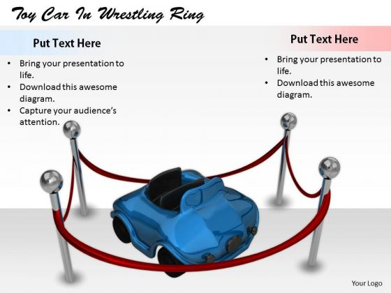 Stock Photo Innovative Marketing Concepts Toy Car Wrestling Ring Business Success Images