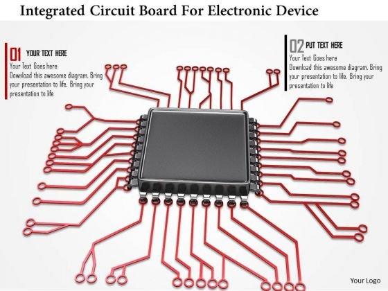 Stock Photo Integrated Circuit Board For Electronic Device Point Slide 1 2