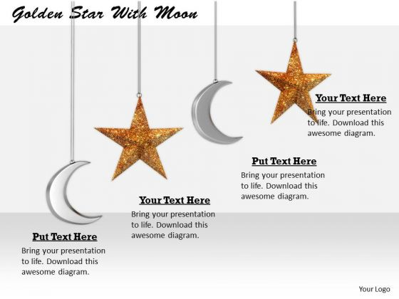 Stock Photo International Marketing Concepts Golden Star With Moon Business Success Images