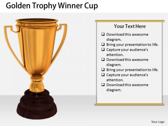 Stock Photo International Marketing Concepts Golden Trophy Winner Cup Business Success Images