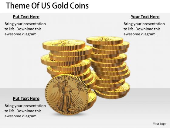 Stock Photo International Marketing Concepts Theme Of Us Gold Coins Images Business