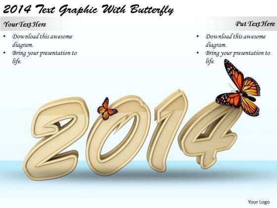 Stock Photo Internet Business Strategy 2014 Text Graphic With Butterfly Images And Graphics
