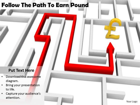 Stock Photo Internet Business Strategy Follow The Path To Earn Pound Pictures