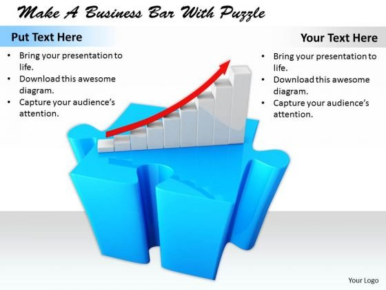 Stock Photo Internet Business Strategy Make Bar With Puzzle Images And Graphics