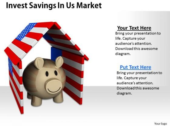 Stock Photo Invest Savings In Us Market PowerPoint Template