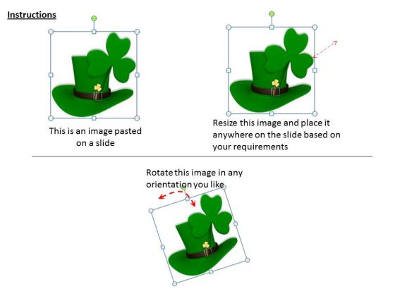 stock_photo_irish_hat_with_clover_leaf_powerpoint_template_2