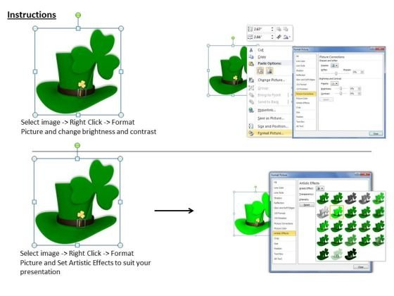 stock_photo_irish_hat_with_clover_leaf_powerpoint_template_3