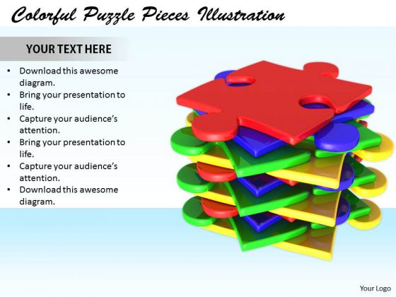 Stock Photo It Business Strategy Colorful Puzzle Pieces Illustration Success Images
