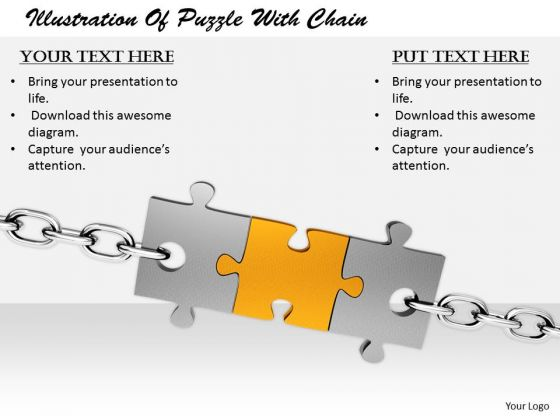 Stock Photo It Business Strategy Illustration Of Puzzle With Chain Images Photos