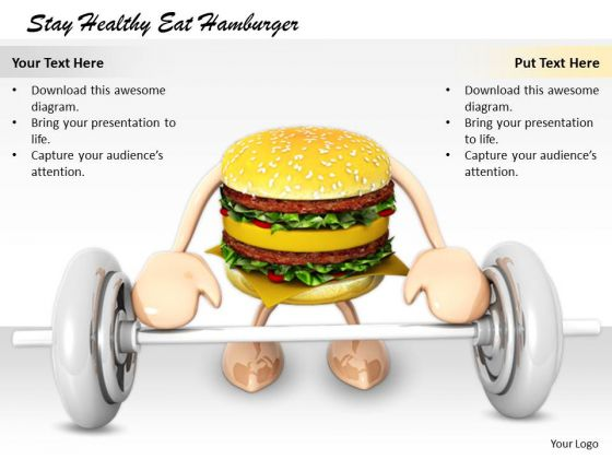 Stock Photo It Business Strategy Stay Healthy Eat Hamburger Images