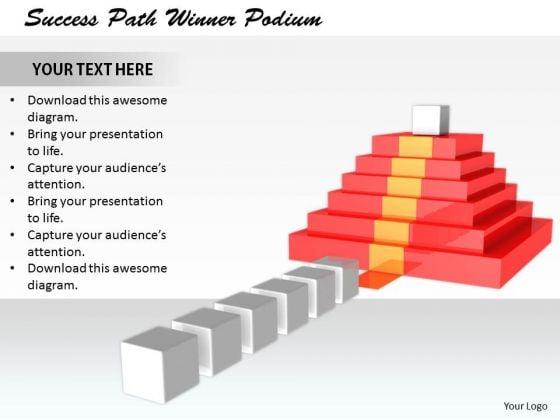 Stock Photo It Business Strategy Success Path Winner Podium Images