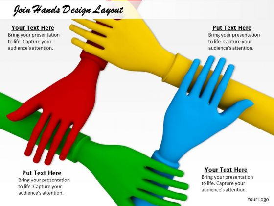 Stock Photo Join Hands Design Layout PowerPoint Template