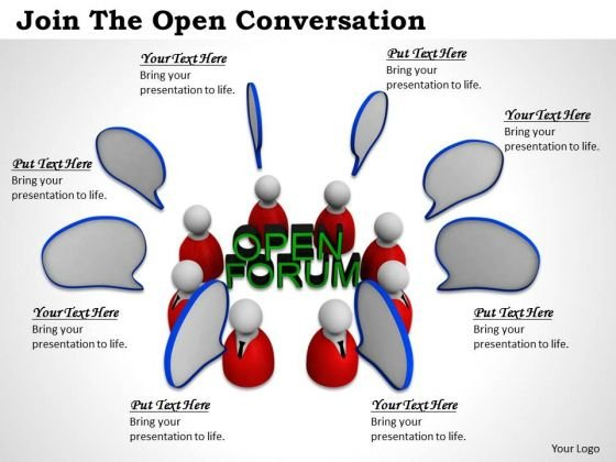 Stock Photo Join The Open Conversation PowerPoint Template