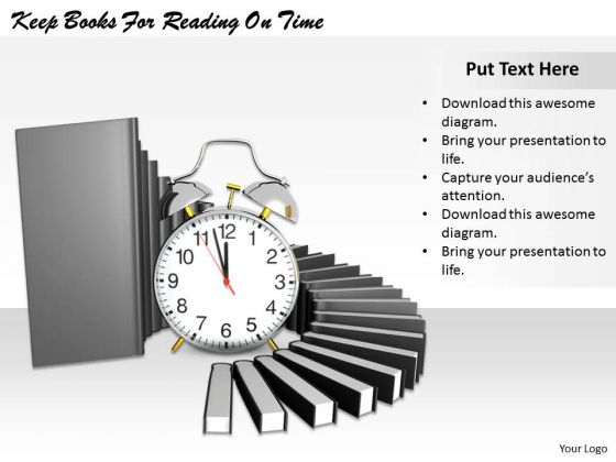 Stock Photo Keep Books For Reading On Time PowerPoint Template