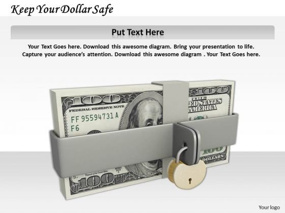 Stock Photo Keep Your Dollar Safe PowerPoint Template