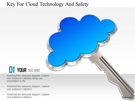 Stock Photo Key For Cloud Technology And Safety Image Graphics For PowerPoint Slide