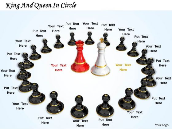 Stock Photo King And Queen In Circle PowerPoint Template