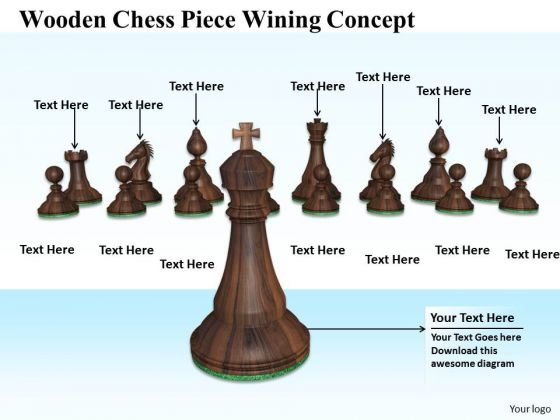 Stock Photo King Standing Ahead Of Other Chess Pieces PowerPoint Slide